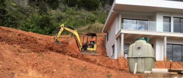 Providing a home sewage treatment system in the Korora hills near Coffs