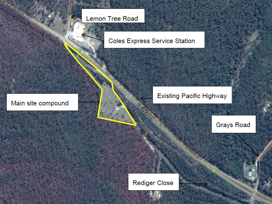Pacific Highway upgrade at Glenugie