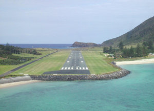 Runway at Lord Howe Island airport