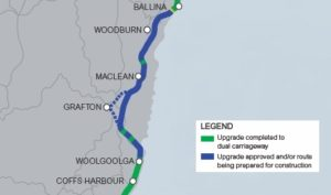 route of Pacific Highway upgrade
