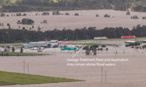 Treatment Plant And Application Area Remain Above Flood Waters.
