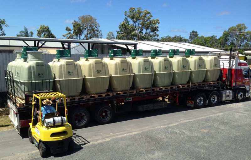 Fuji Clean STP delivery to True Water Australia depot