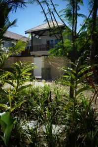 The Kubota sewage treatment plants are discreetly nestled in the gardens beside each villa.
