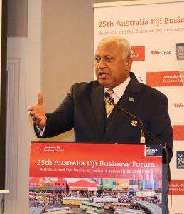 Pm Bainimarama Speaks At 25th Australia Fiji Business Council Forum