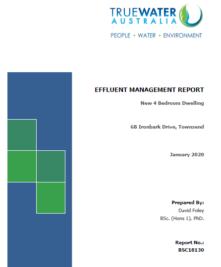 Onsite Wastewater Reports are also know as Effluent Management Reports and are required by council