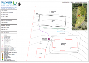 A home onsite wastewater system design will form part of your report for council