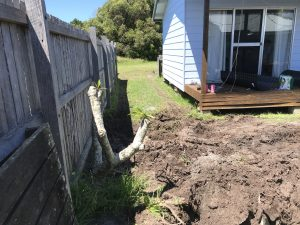 The small block and restricted access were a challenge to be overcome in order to upgrade the existing home sewage solution at this Sandon property.