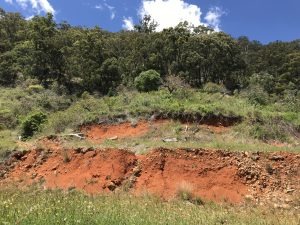 The home site is on a hillside just outside Coffs Harbour and required careful planning to build the home and supporting sewage treatment infrastructure.